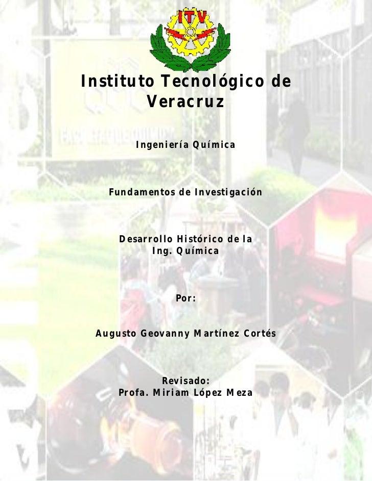 La Ingeniería Química..Introducción