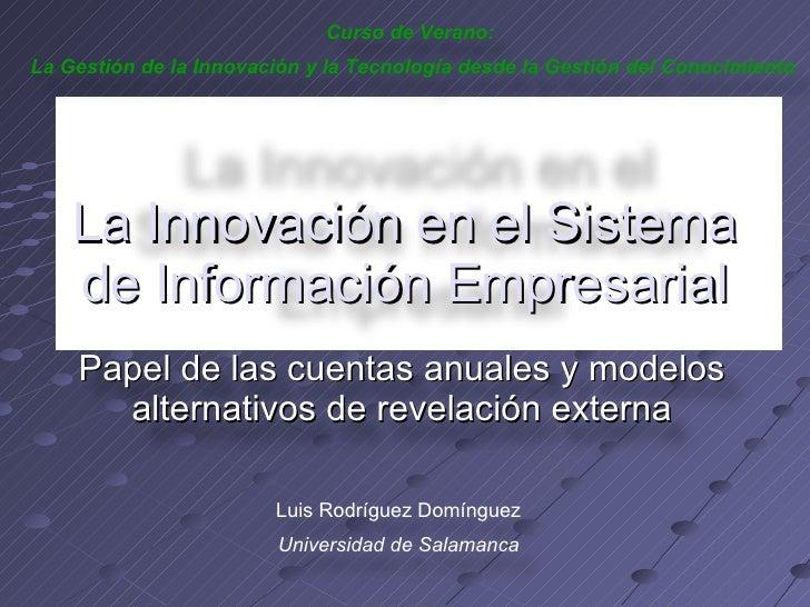 La InnovacióN En El Sistema De InformacióN Empresarial.Ppt