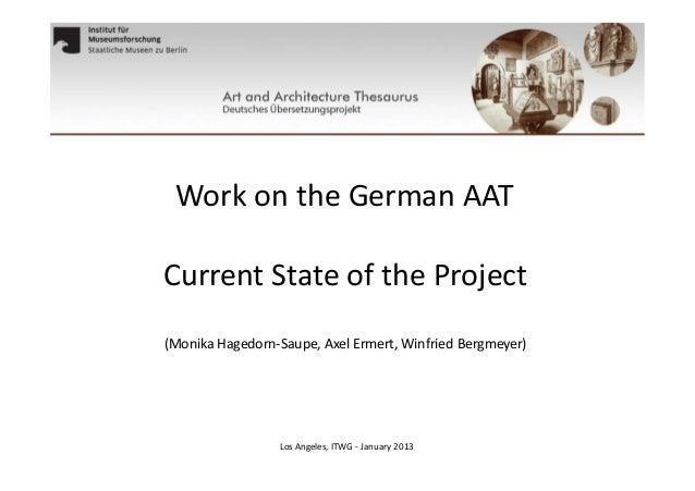 German AAT 2013