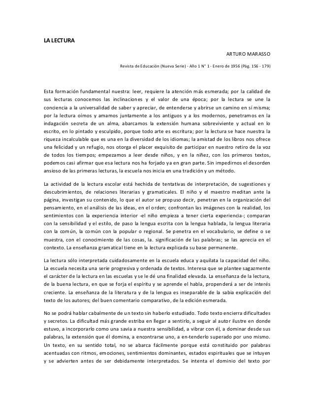 La lectura, Antonio Marasso