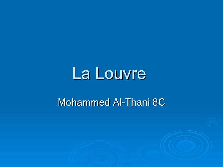 La Louvre  Mohammed Al-Thani 8C