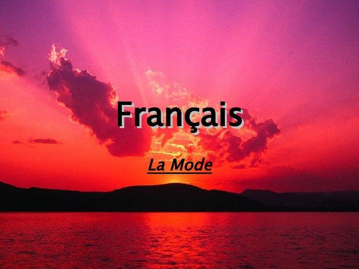 Français La Mode