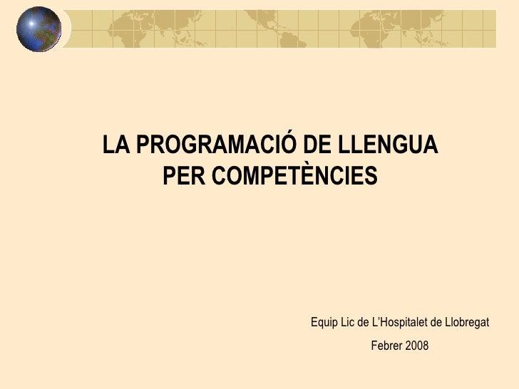La Programació Per CompetèNcies