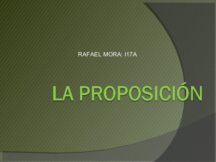 RAFAEL MORA: I17A