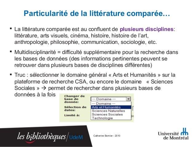 Dissertation en litterature comparee