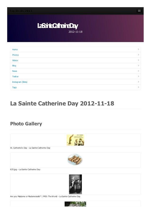 La sainte-catherine-day