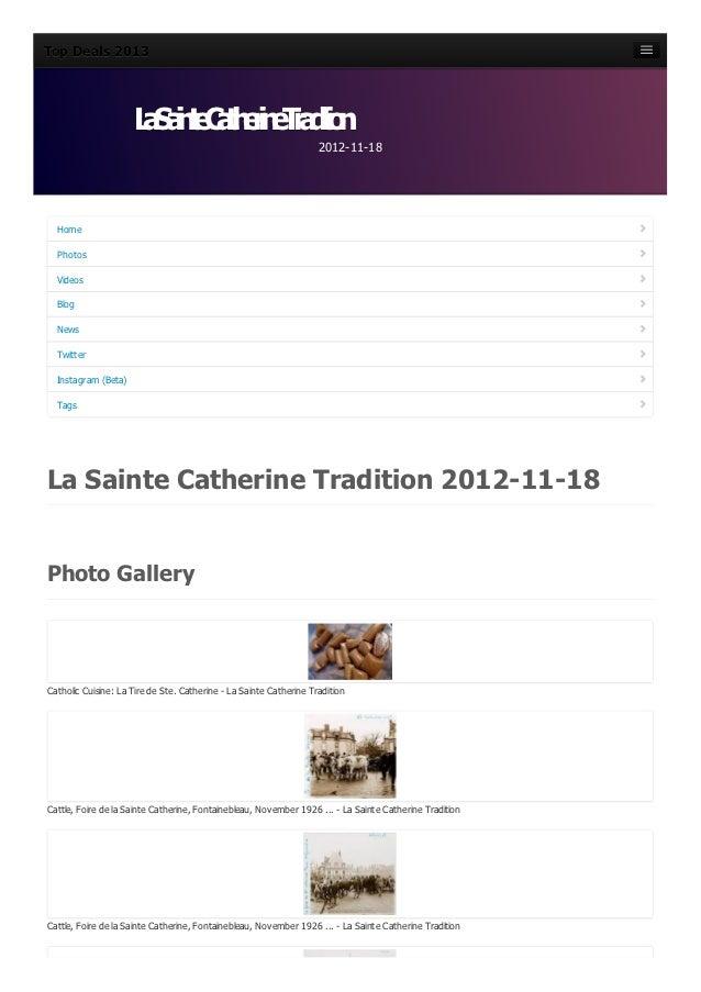 La sainte-catherine-tradition