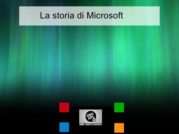 La storia di Microsoft