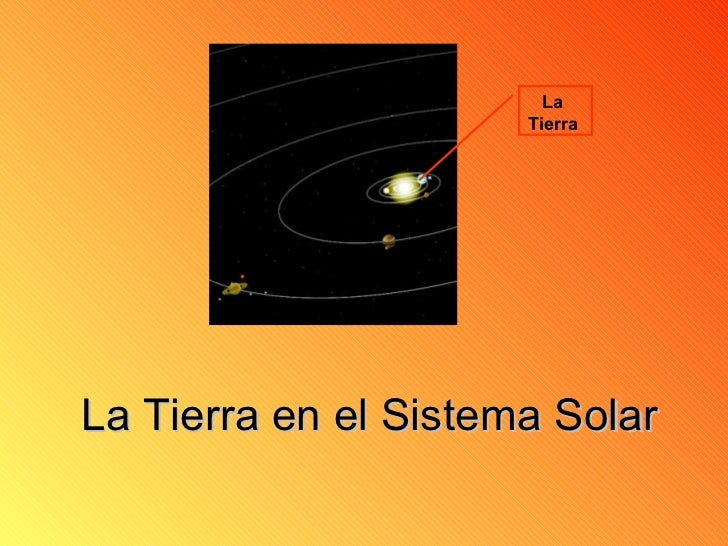 La Tierra en el Sistema Solar La  Tierra