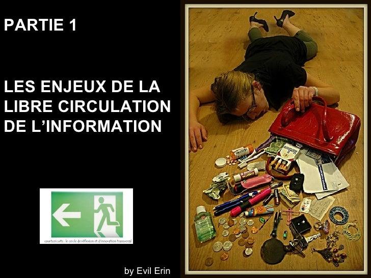 PARTIE 1 LES ENJEUX DE LA  LIBRE CIRCULATION  DE L'INFORMATION Photo: kristel by Evil Erin