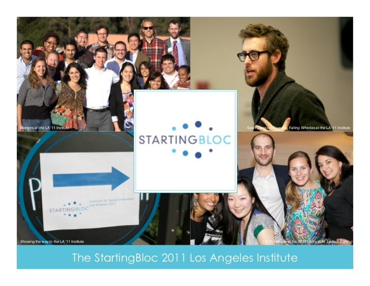 Mentors at the LA '11 Institute!                                    Sean Carasso, Founder, Falling Whistles at the LA '11 ...