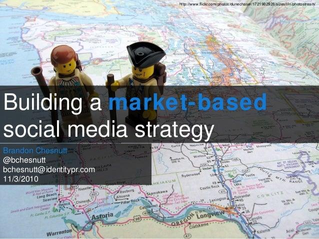 Building a market-based social media strategy Brandon Chesnutt @bchesnutt bchesnutt@identitypr.com 11/3/2010 http://www.fl...