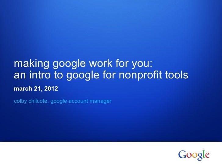 La2 m  google for nonprofits 3.21.12