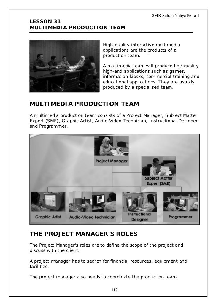 SMK Sultan Yahya Petra 1LESSON 31MULTIMEDIA PRODUCTION TEAM                                 High-quality interactive multi...