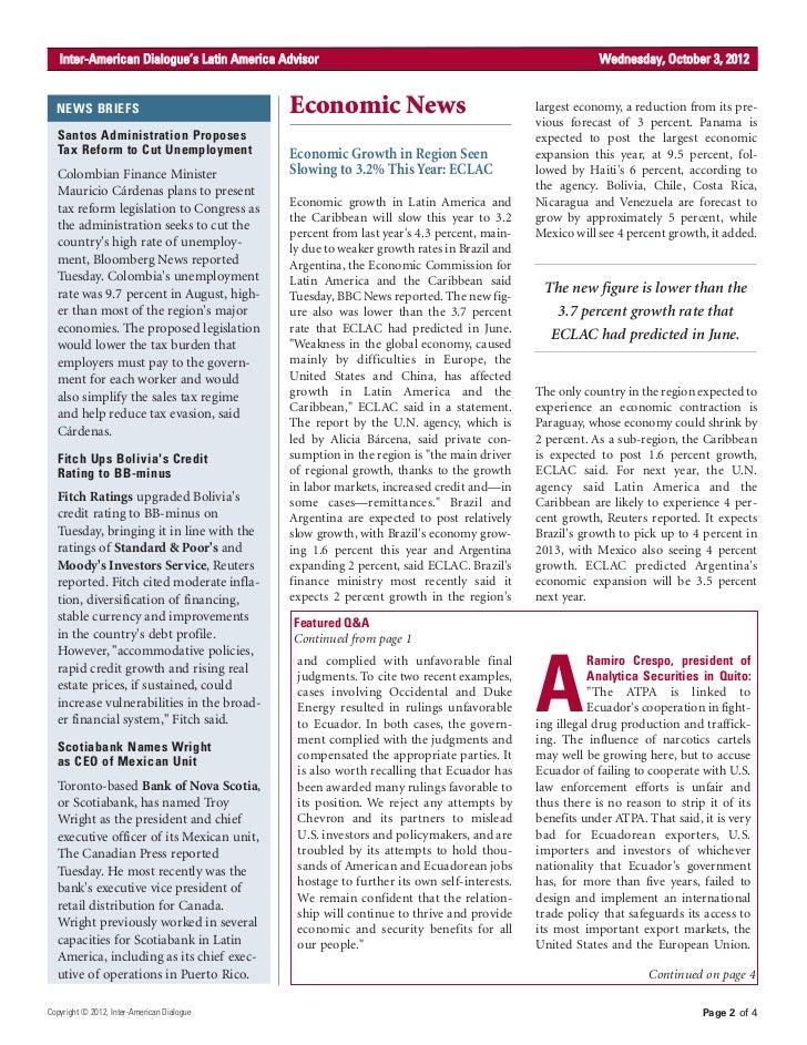 Economy 2012 News 2012 News Briefs Economic
