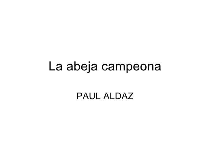 La abeja campeona PAUL ALDAZ