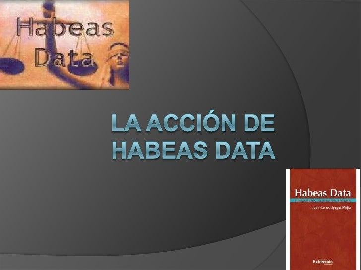 La Acción de Habeas Data<br />