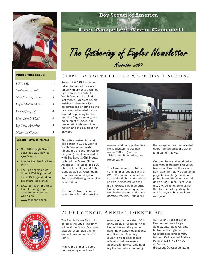 The Gathering of Eagles Newsletter                                                                          November 2009 ...