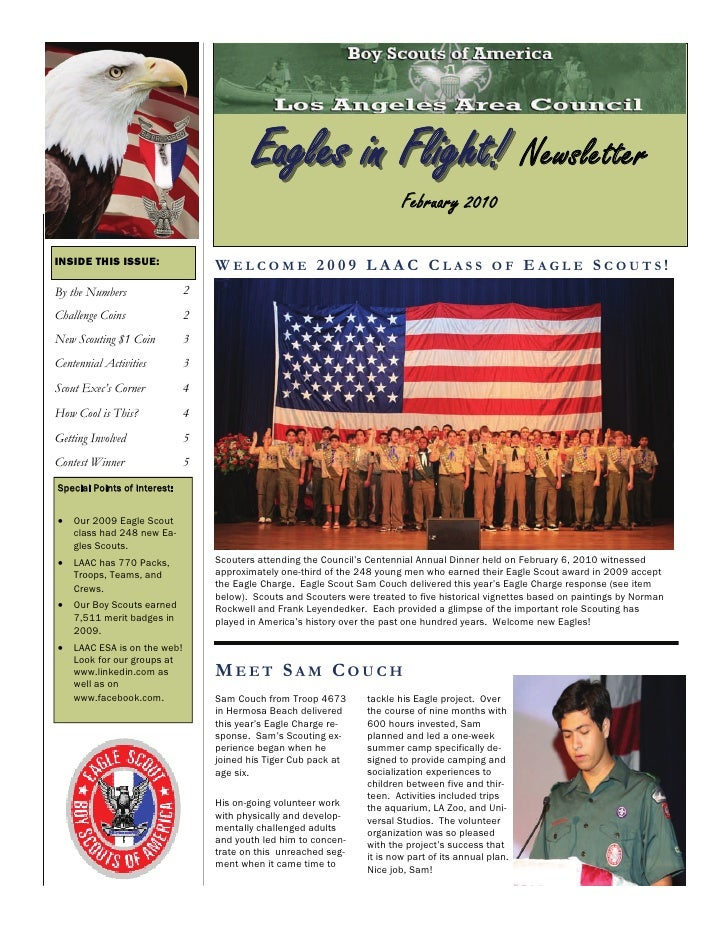 Eagles in Flight! Newsletter                                                                            February 2010  INS...