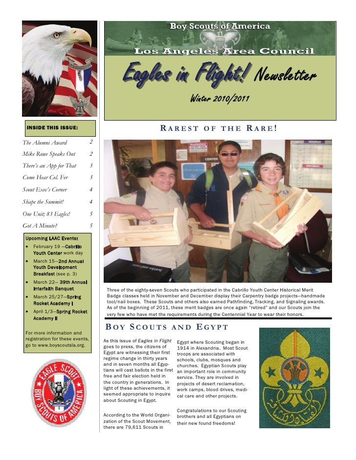 Eagles in Flight! Newsletter                                                                                  Winter 2010/...