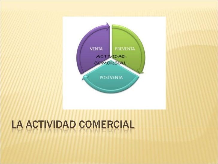La actividad comercial