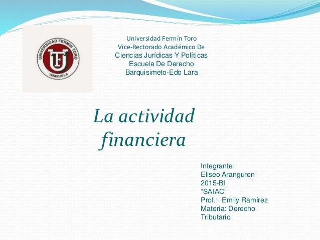 Universidad Fermín Toro Vice-Rectorado Académico De Ciencias Jurídicas Y Políticas Escuela De Derecho Barquisimeto-Edo Lar...