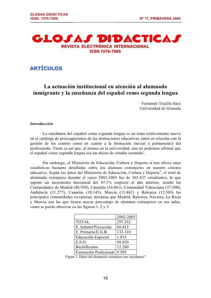 GLOSAS DIDÁCTICAS ISSN: 1576-7809                                                         Nº 11, PRIMAVERA 2004           ...