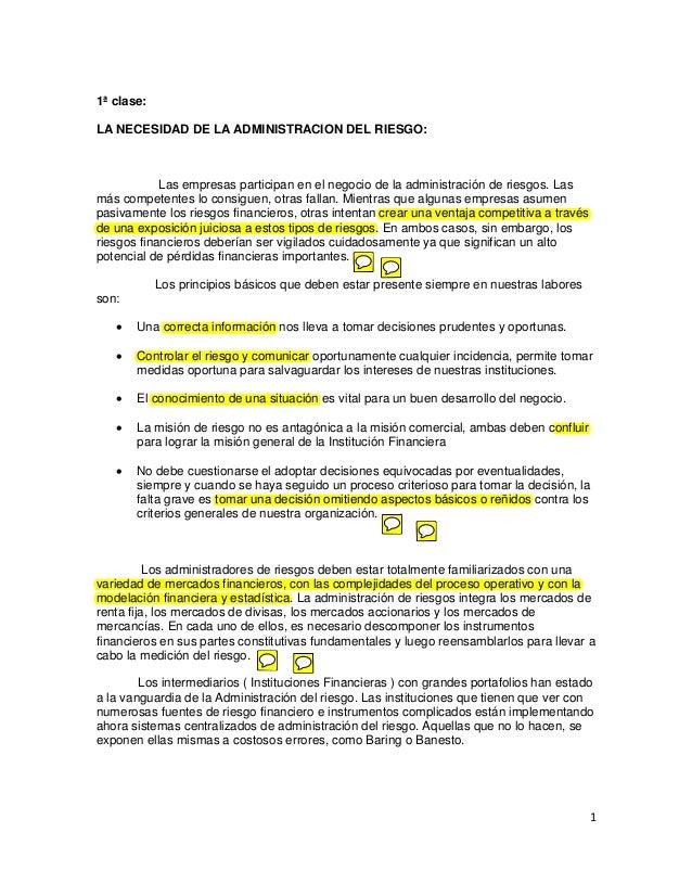 La administracion del riesgo (Trabajo Grupal 1) - Universidad Privada Antenor Orrego