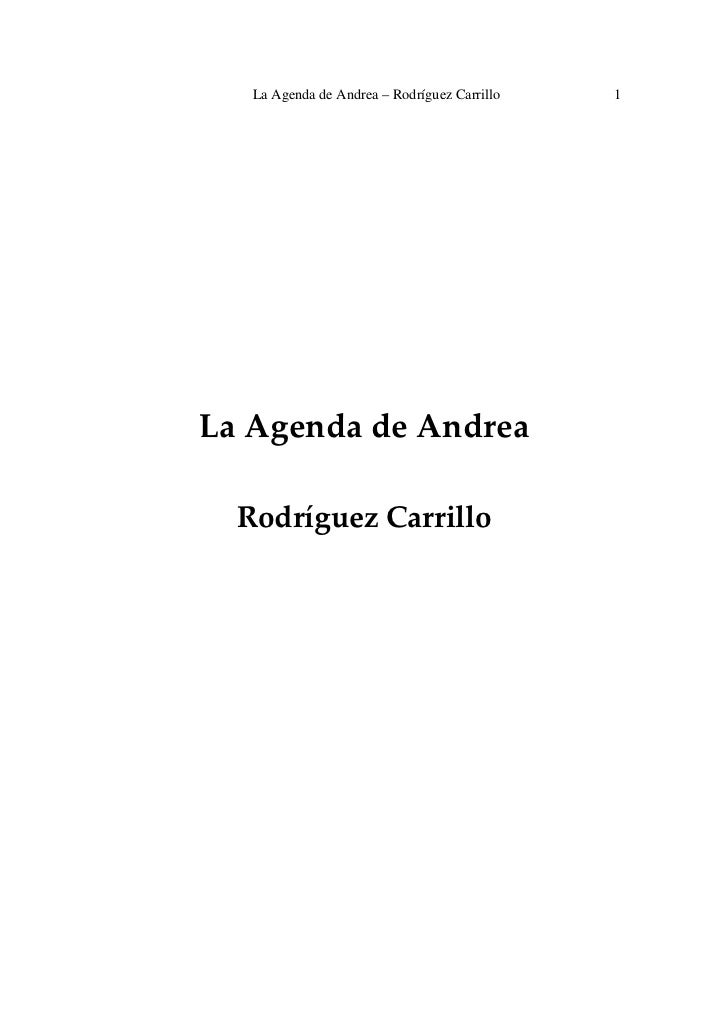 La Agenda de Andrea – Rodríguez Carrillo   1                                                                           ...