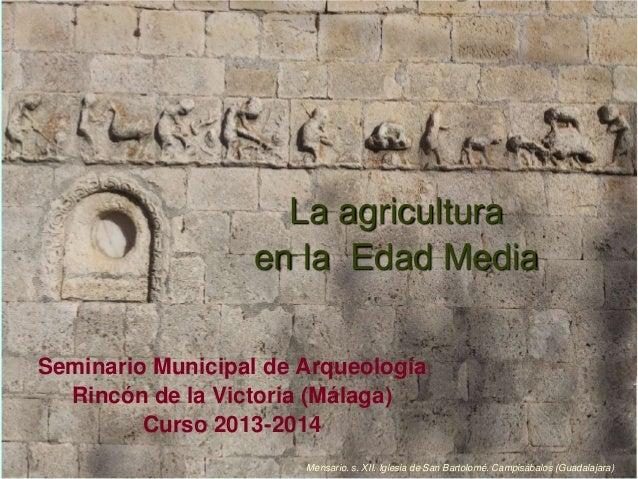 La agricultura medieval