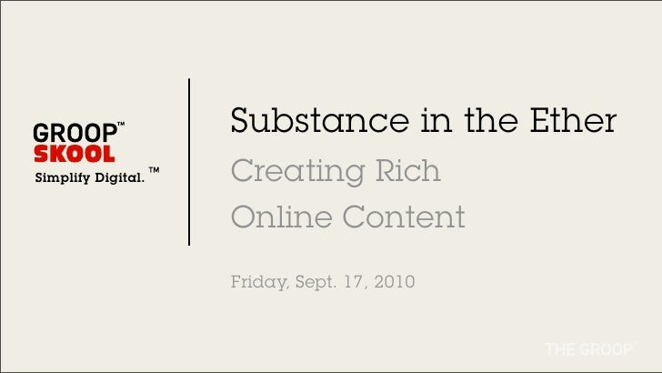LAANE- Rules of Online Content