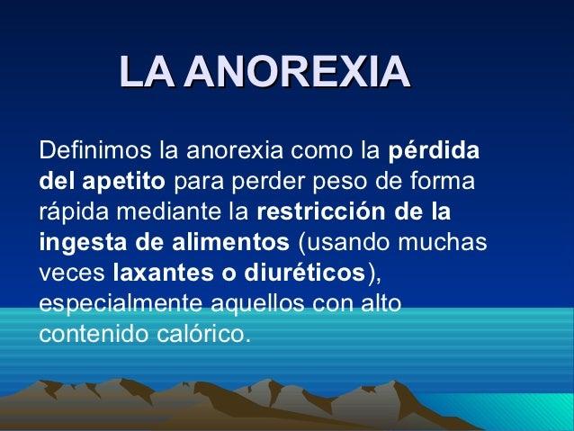 La anorexia
