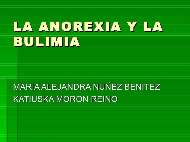 La anorexia y la bulimia[1]