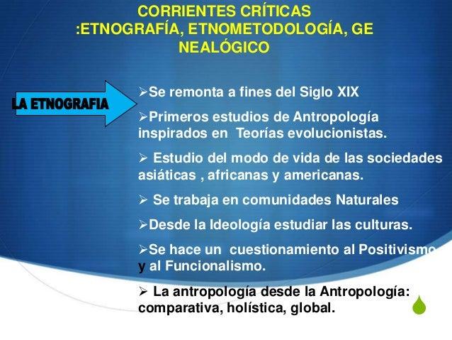 La antropología y las corrientes críticas