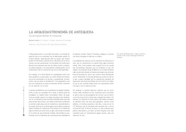 La arqueoastronomía de Antequera