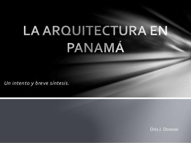 La arquitectura en panamá