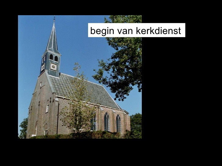 begin van kerkdienst