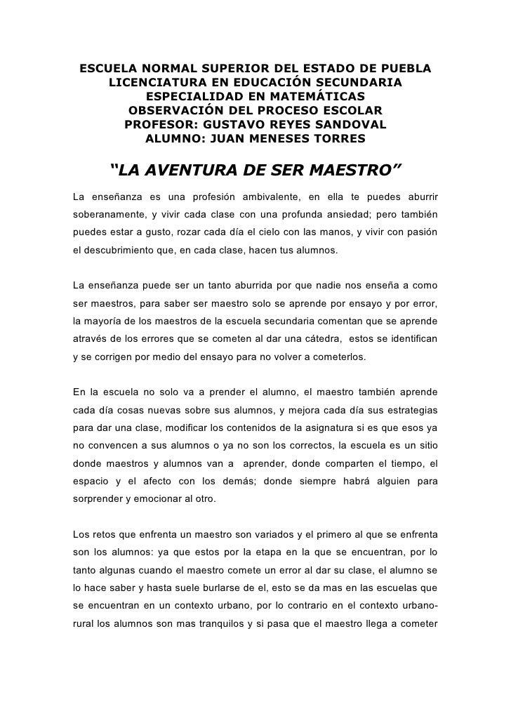 ESCUELA NORMAL SUPERIOR DEL ESTADO DE PUEBLA      LICENCIATURA EN EDUCACIÓN SECUNDARIA           ESPECIALIDAD EN MATEMÁTIC...