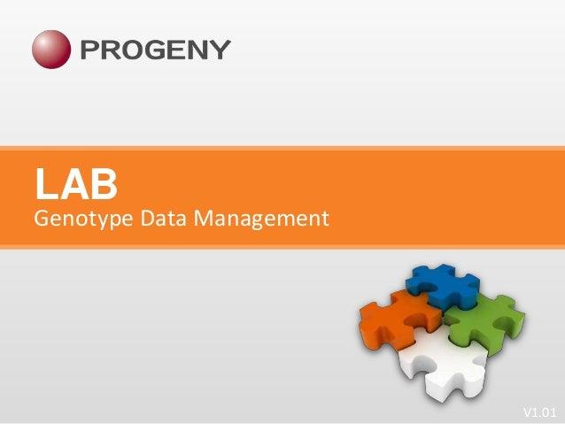 LAB  Genotype Data Management  V1.01