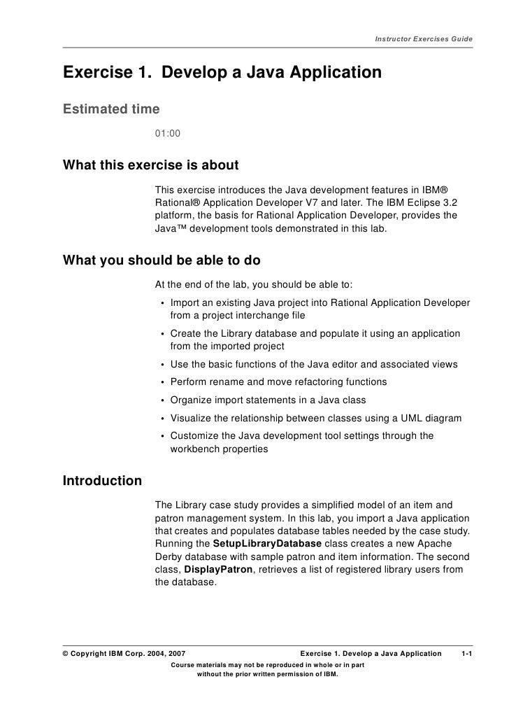 Lab 2) develop a java application