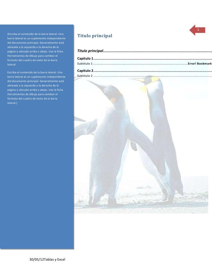 1[Escriba el contenido de la barra lateral. Unabarra lateral es un suplemento independiente                               ...