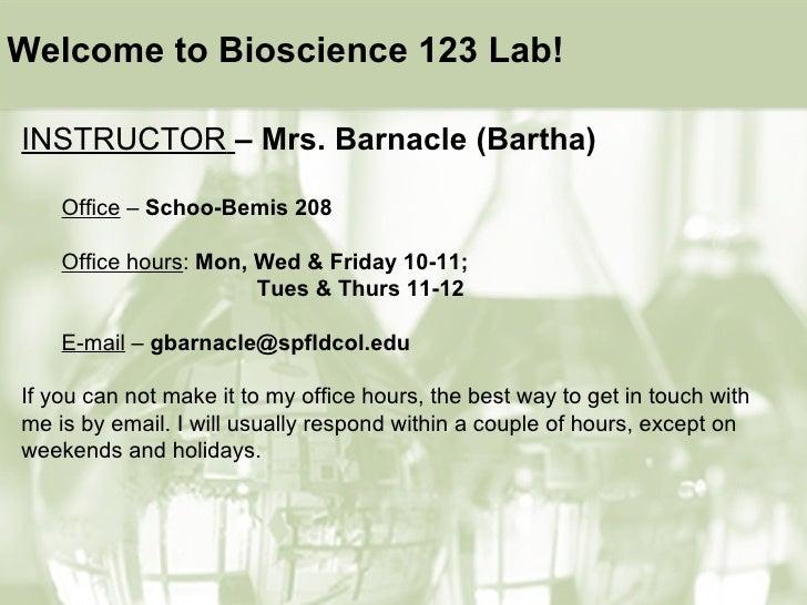 <ul><li>INSTRUCTOR   – Mrs. Barnacle (Bartha) </li></ul><ul><ul><li>Office  –  Schoo-Bemis 208 </li></ul></ul><ul><ul><li>...