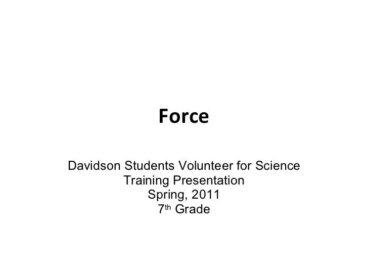 Lab 3-7th Grade: Part 1- force