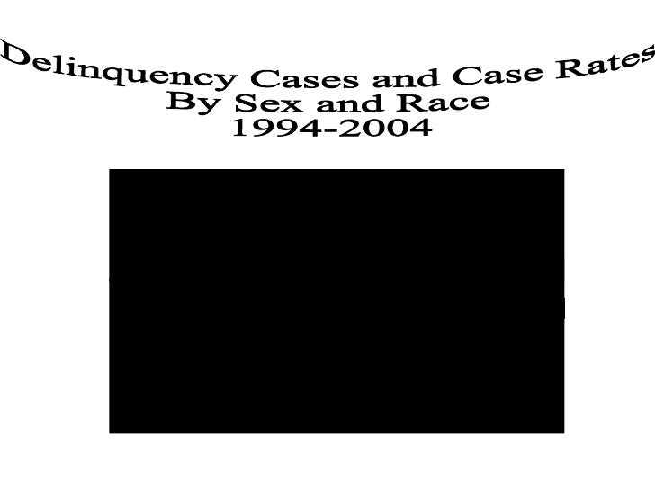 Delinquency Cases and Case Rates  By Sex and Race 1994-2004