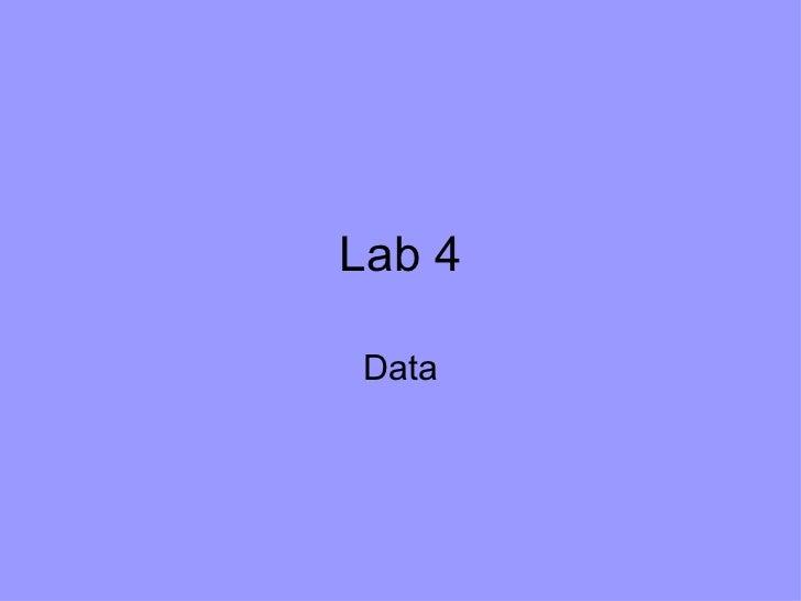 Lab 4 Data