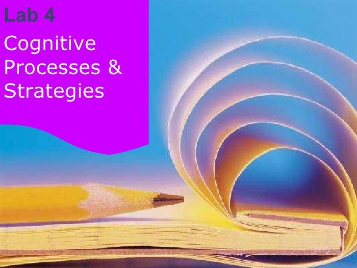 Lab 4: Cognitive Processes & Strategies