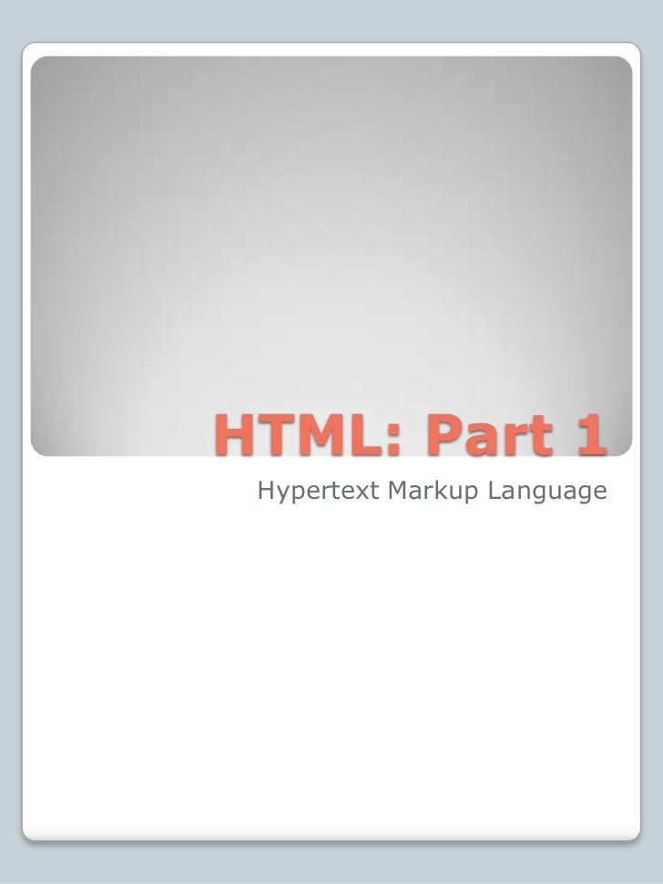 Lab 4: Introduction to HTML