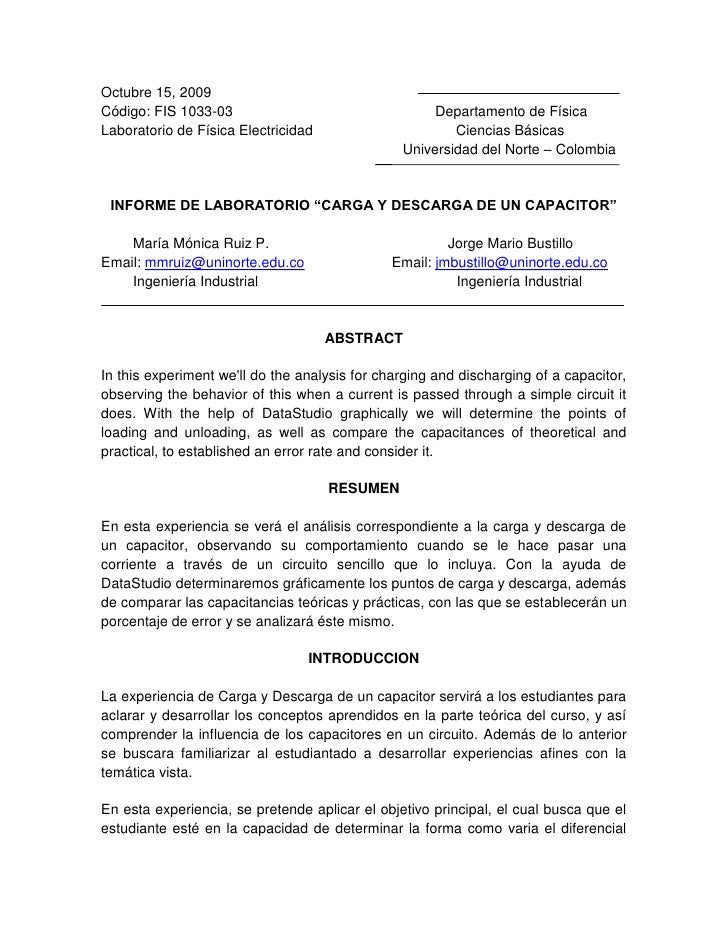 Octubre 15, 2009<br />Código: FIS 1033-03                                                   Departamento de Física<br />La...