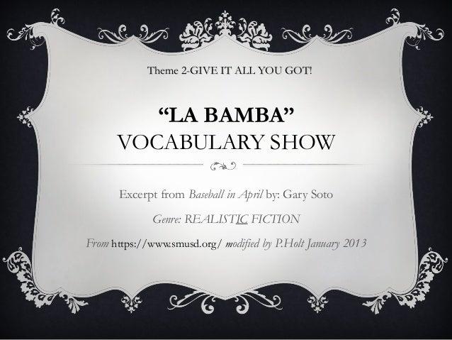 La bamba vocabulary_pp jan 2013