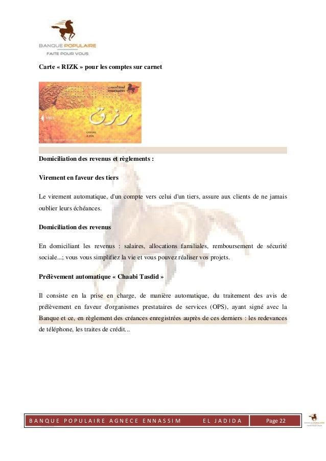 rapport de stage banque populaire pdf